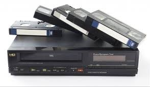 VCR and VHS tapes